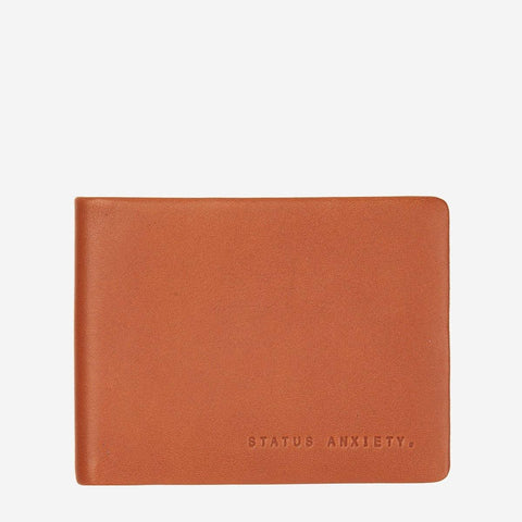 Status Anxiety Men Leather Wallet Tobias - Camel