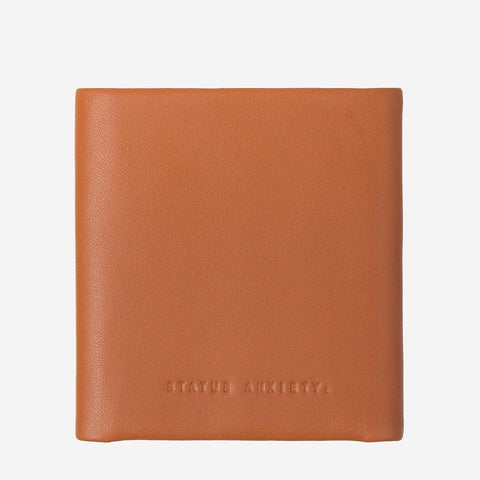 Status Anxiety Men Leather Wallet Vincent - Camel