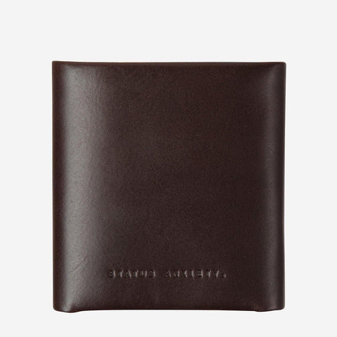 Status Anxiety Men Leather Wallet Vincent - Chocolate
