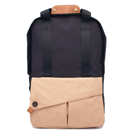(Clearance) PKG DRI Grab Backpack - Black/Tan