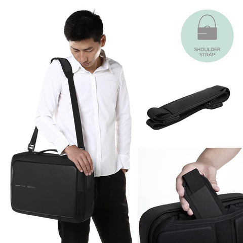 XD Design Bobby Bizz Business Briefcase & Backpack - Black
