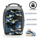 (Clearance) XD Design Bobby Compact Anti-Theft Backpack - Camouflage Blue