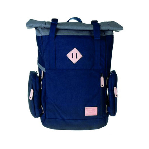 Doughnut Peak Backpack - Navy X Grey