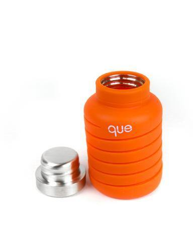 Que Bottle Perfect Travel Bottle (Collapsible to Half Size)  600ml - Orange