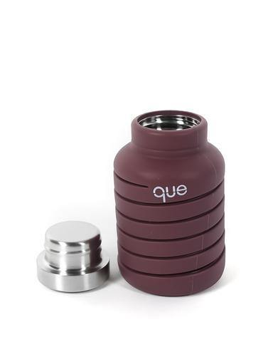 Que Bottle Perfect Travel Bottle (Collapsible to Half Size)  600ml - Frozen Plum