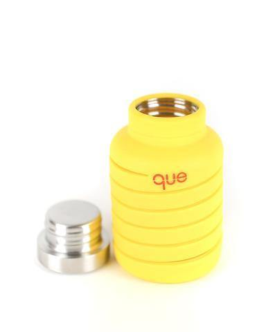 Que Bottle Perfect Travel Bottle (Collapsible to Half Size)  600ml - Yellow