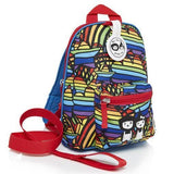 Babymel Mini Backpack & Safety Harness / Reins Age 1-4 Years - Rainbow Multi