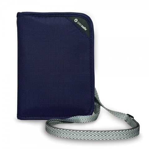 Pacsafe RFIDsafe V150 RFID Blocking Compact Organiser - Navy Blue - oribags2 - 1