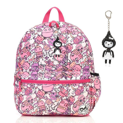 Babymel Kid's Junior Backpack - Robot Pink