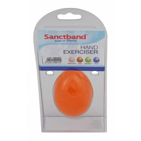 Sanctband Hand Exerciser Egg Shaped - Orange (Soft)