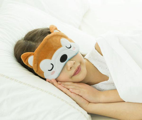TravelMall Kids Light Blocking Sleep Mask - Shiba Inu Edition