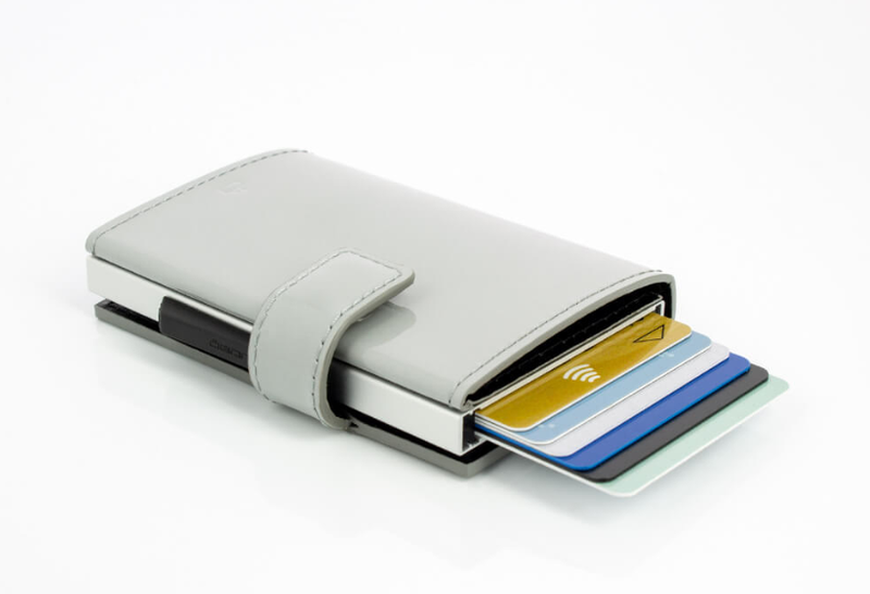 Ogon Cascade Wallet Snap RFID Safe - Glossy Cloud - Oribags.com