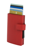 OGON Cascade Wallet Snap RFID Safe - Traforato Red