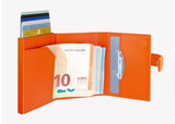 OGON Cascade Zipper Wallet Snap RFID Safe - Full Orange
