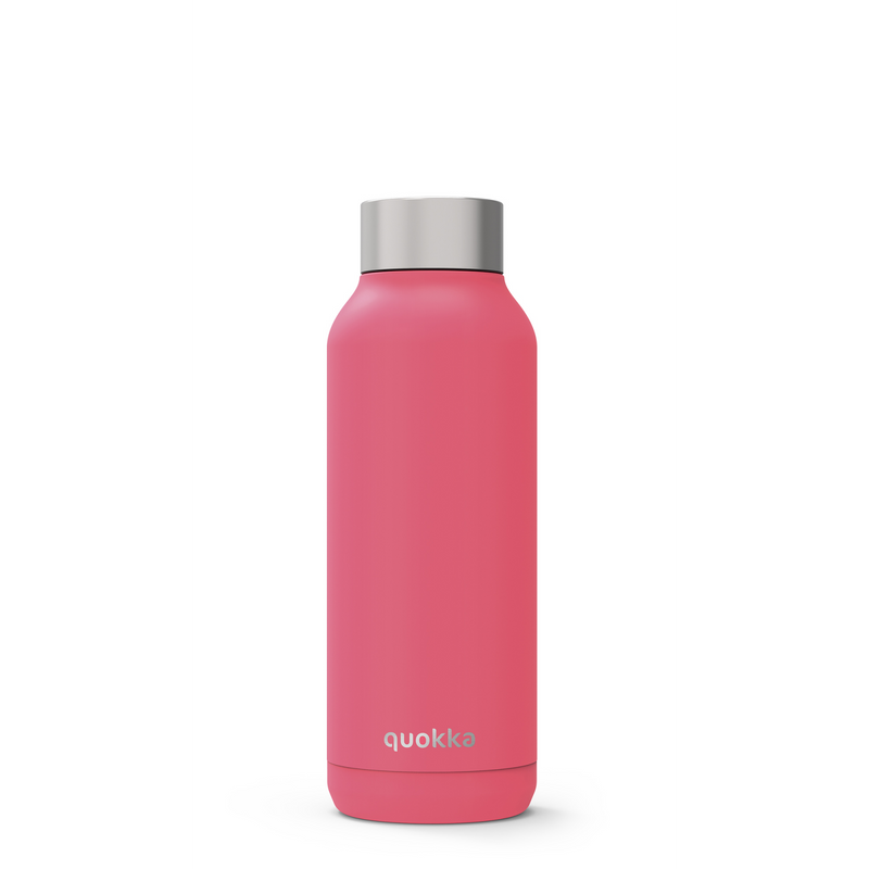 Quokka Stainless Steel Bottle Solid Series 510ml - Brink Pink - Oribags.com