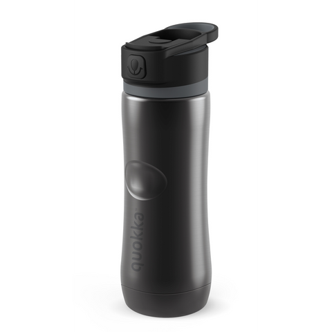 Quokka Stainless Steel Bottle Spring Series 600ml - Ebony