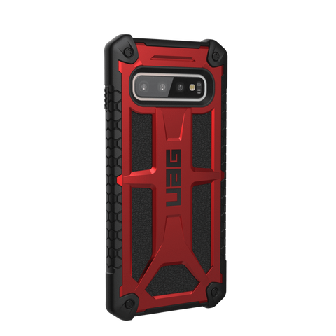 UAG Monarch Series Galaxy S10 Case - Crimson