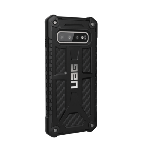 UAG Monarch Series Galaxy S10 Case - Carbon Fibre