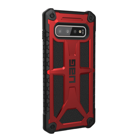 UAG Monarch Series Galaxy S10 Plus Case - Crimson (10 Year Warranty)
