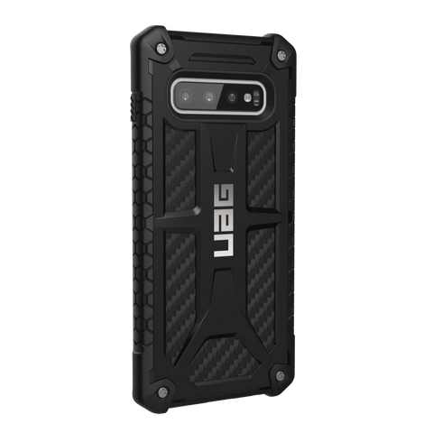UAG Monarch Series Galaxy S10 Plus Case - Carbon Fibre