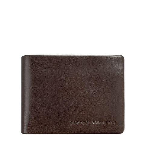 Status Anxiety Men Leather Wallet Tobias - Chocolate