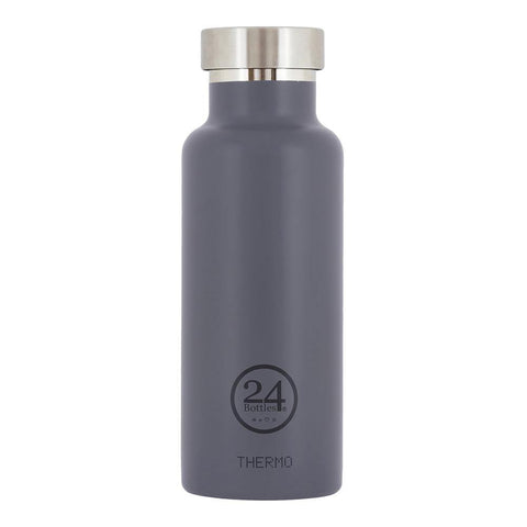 24 Bottles Thermo Water Bottle 0.5L - Formal Grey