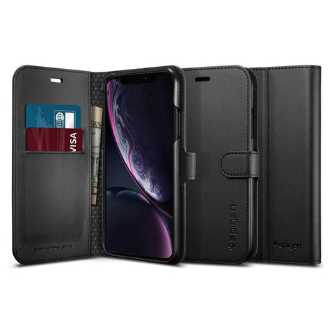 Spigen iPhone XR Case Wallet S - Black