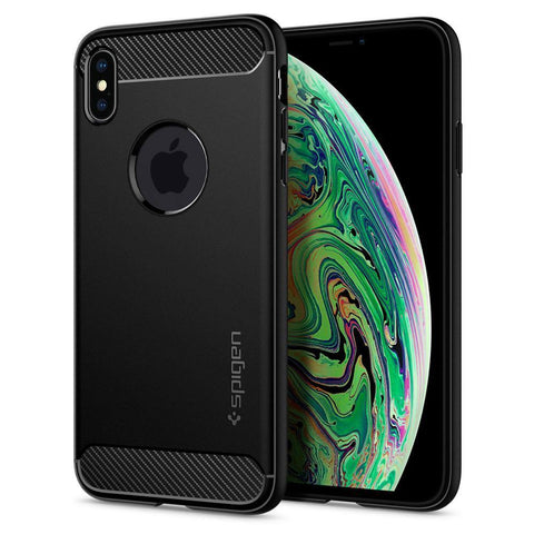 Spigen iPhone XS Max Case Rugged Armor - Black