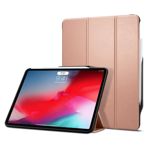 "(Clearance) Spigen iPad Pro 12.9"" (2018) Case Smart Fold 2 - Rose Gold"