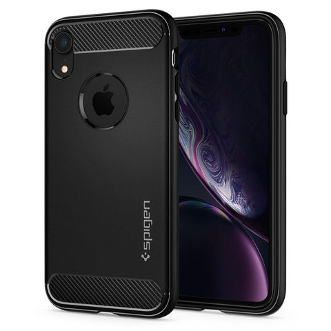 (Clearance) Spigen iPhone XR Case Rugged Armor - Black