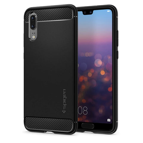 Spigen Huawei P20 Case Rugged Armor - Black