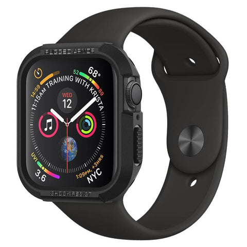 Spigen Apple Watch Series 4 (44mm) Case Rugged Armor Protector Case - Black