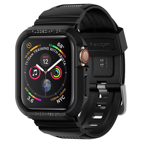 Spigen Apple Watch Series 4 (44mm) Case Rugged Armor Pro - Black