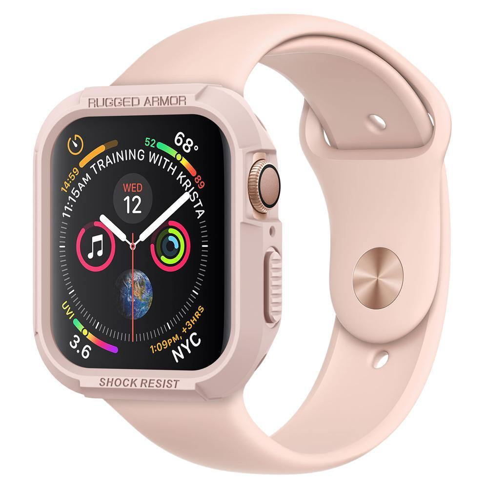 finest selection c4dab f06b9 Spigen Apple Watch Series 4 (44mm) Case Rugged Armor Protector Case - Rose  Gold - Oribags.com