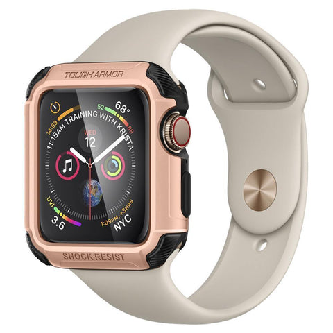 Spigen Apple Watch Series 4 (44mm) Case Tough Armor Protector Case - Rose Gold