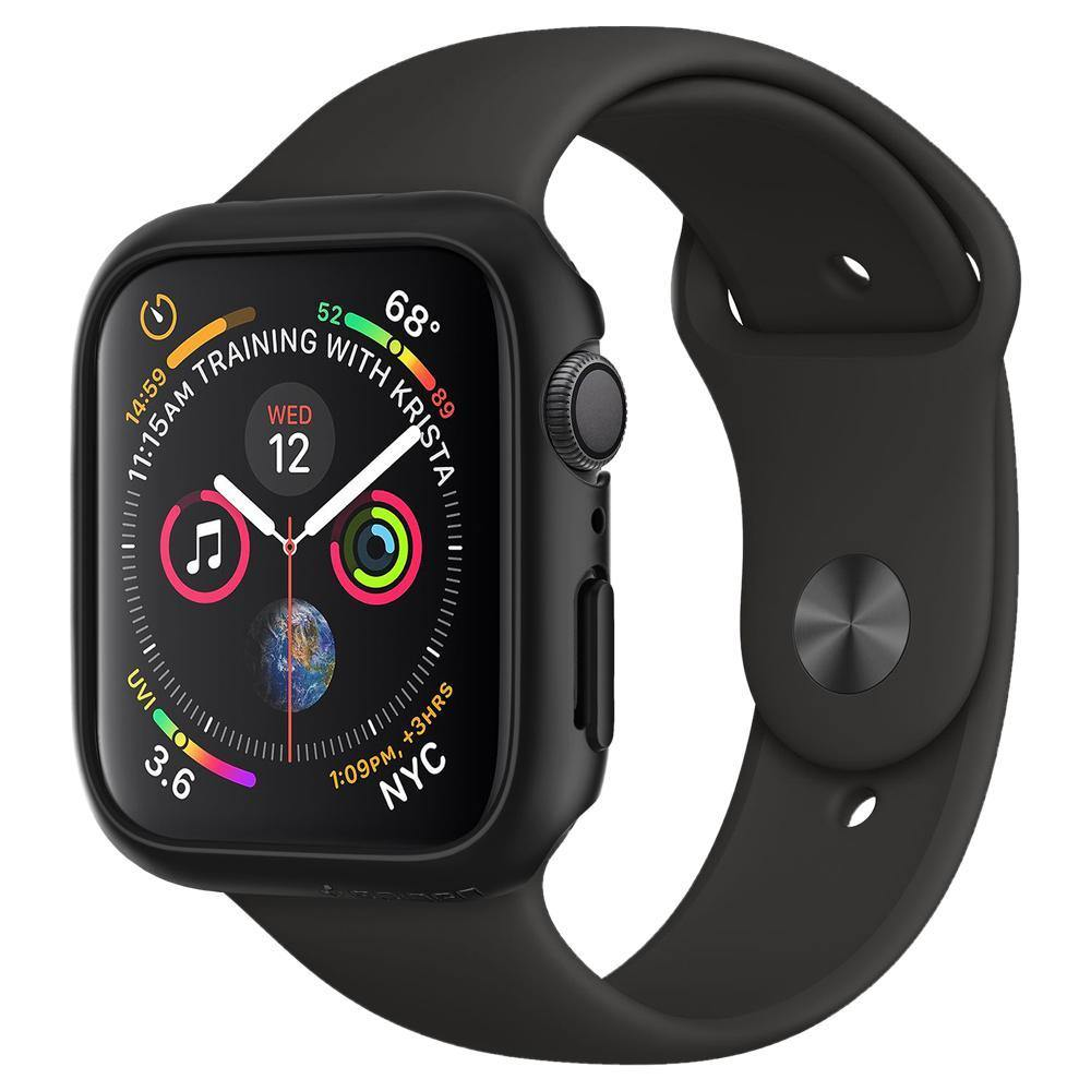 wholesale dealer ac899 2d639 Spigen Apple Watch Series 4 (40mm) Case Thin Fit Protector Case - Black