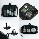 (Promo) Side By Side Travel Packer Toiletry Bag - Black