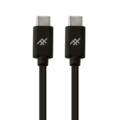 IFROGZ Uniquesync USB-C to USB-C Charge & Sync Cable 1m - Black - Oribags.com