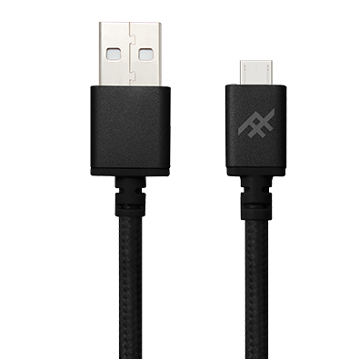 IFROGZ Uniquesync Premium Micro USB Charge and Sync Cable 1.5m - Black