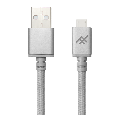 IFROGZ Uniquesync Premium Micro USB Charge and Sync Cable 1.5m - Silver - Oribags.com