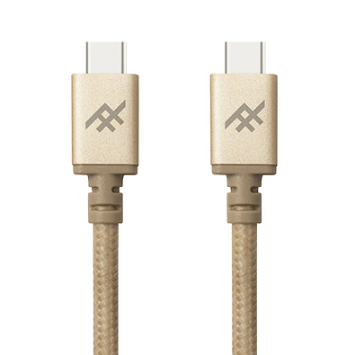 IFROGZ Uniquesync USB-C to USB-C Charge & Sync Cable 1m - Gold