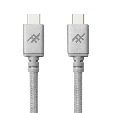 IFROGZ Uniquesync USB-C to USB-C Charge & Sync Cable 1m - Silver