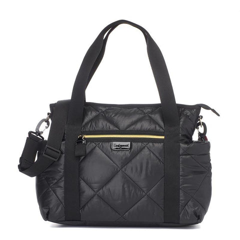 Babymel Cara Ultra-Lite Diaper Bag - Black Quilt