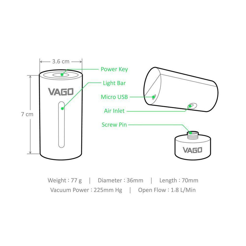 Vago Travel Vacuum Compressor ( Free 1pc M Size Vacuum Bag ) - Purple - Oribags.com