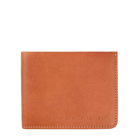 Status Anxiety Men Leather Wallet Alfred - Camel
