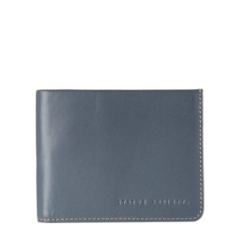 Status Anxiety Men Leather Wallet Alfred - Slate