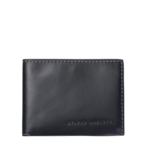 Status Anxiety Men Leather Wallet Felix - Charcoal