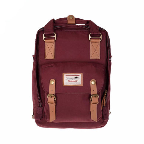 Doughnut Macaroon BoHe Backpack - Wine