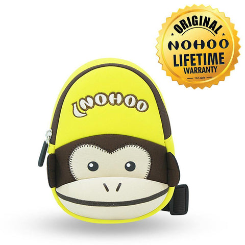 Nohoo Kids Sling Bag Monkey Design - Yellow