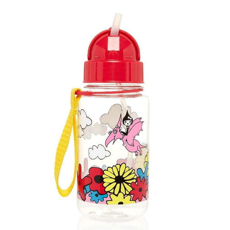 (Clearance) Babymel Drinking Bottle with Straw - Floral Brights - Oribags.com